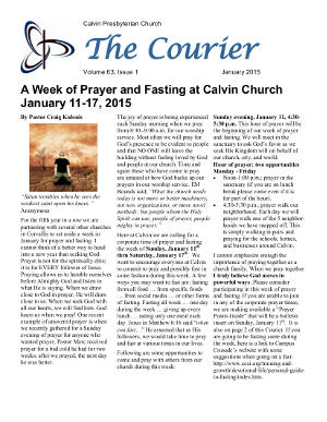 calvin-courier-newsletter-january-2015