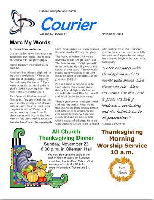 calvin-courier-newsletter-november-2014
