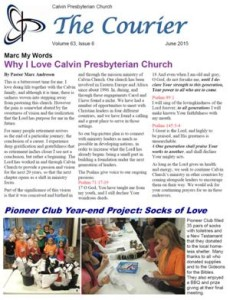 Calvin Newsletter June 2015