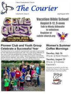 Courier Newsletter July 2016