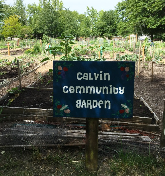Calvin Presbyterian Church Community Garden Sign With Pastors And Staff